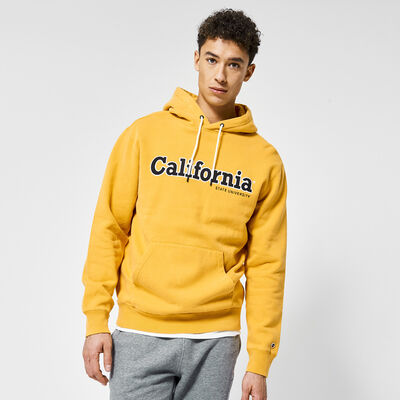 Hoodie with embroidered text