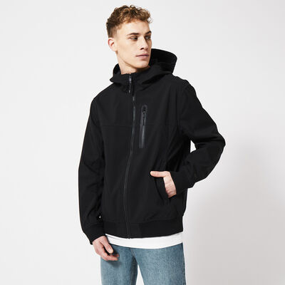 Jacket windproof with hood