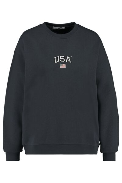 Sweater USA tekstprint