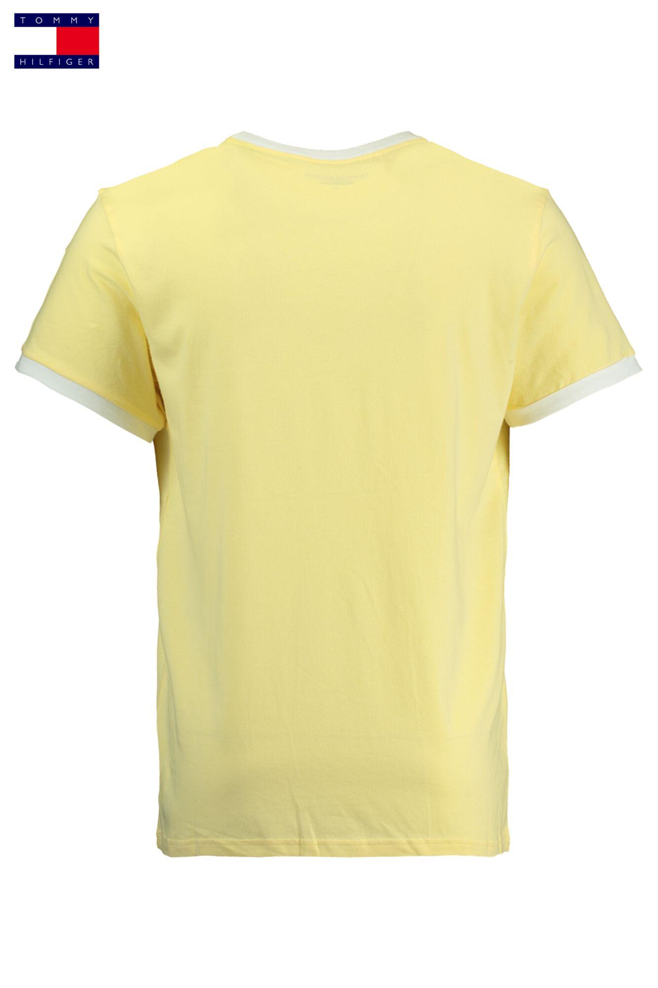 46205b4d Men T-shirt Tommy Hilfiger Logo Flag Yellow Buy Online