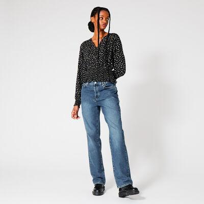 Chemise à col V