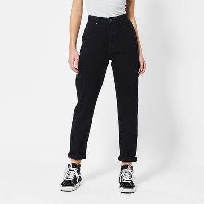 Mom jeans high waist met donkere wassing