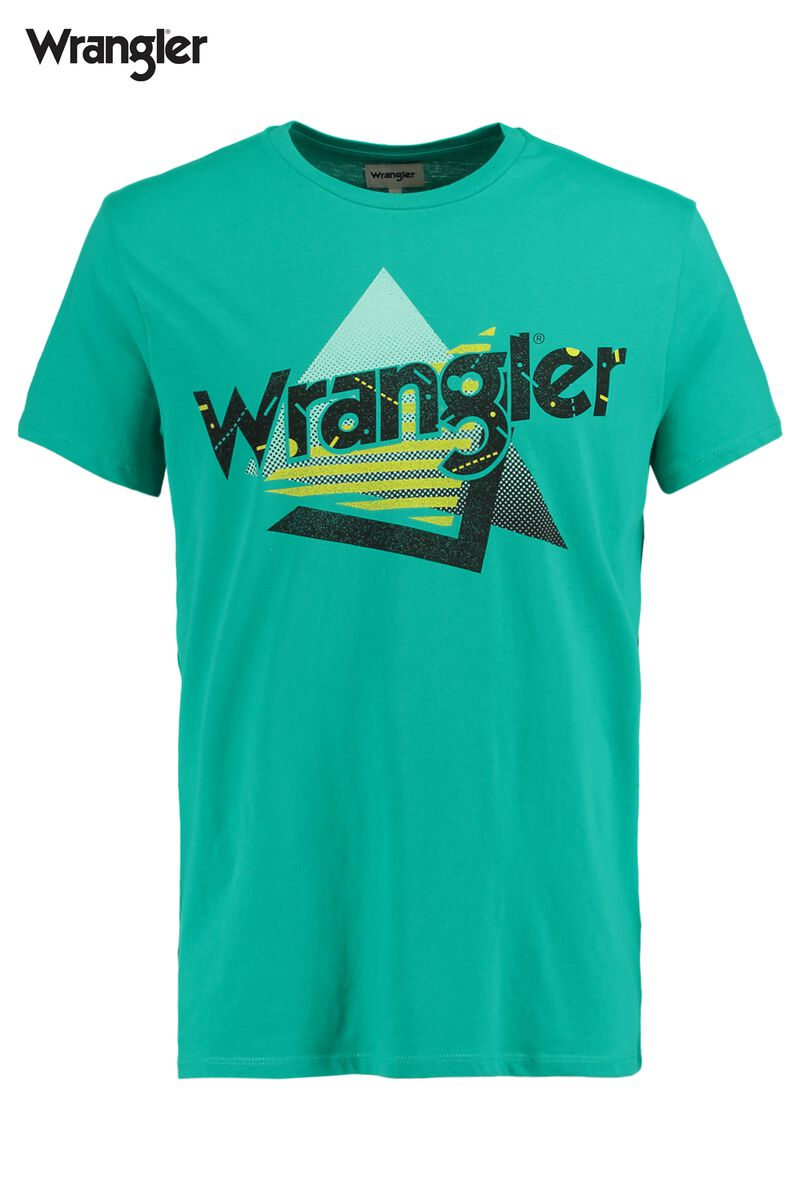 417283f8a18 Men T-shirt Wrangler Logo Green Buy Online