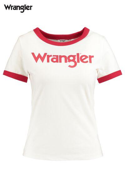 T-shirt Wrangler Logo ringer