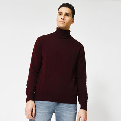 Turtleneck made of cotton