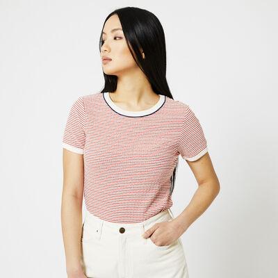 Lee T-shirt Streiffen-Print