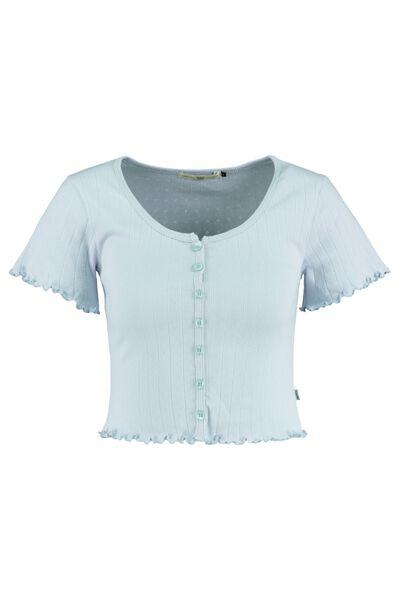 T-shirt cropped knoopsluiting