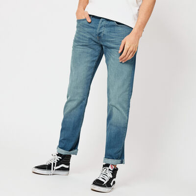 Straight fit jeans met steekzakken