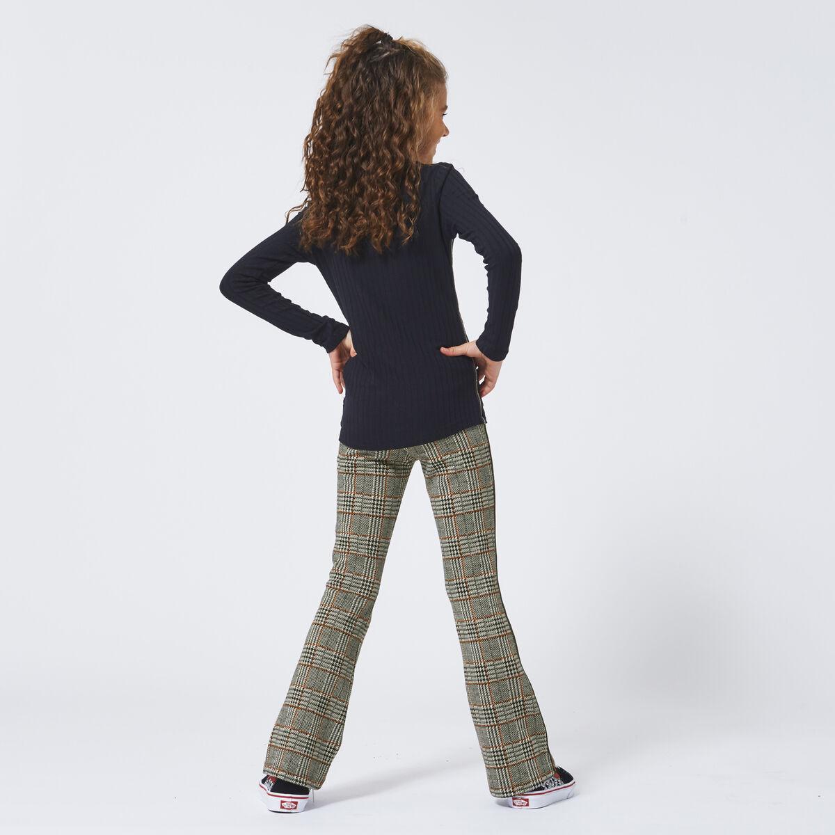 Flared pants Celina check Jr