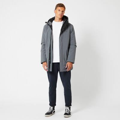 Gevoerde jas met capuchon en steekzakken van fleece
