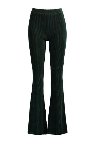 Velvet flared pants lengtemaat 32