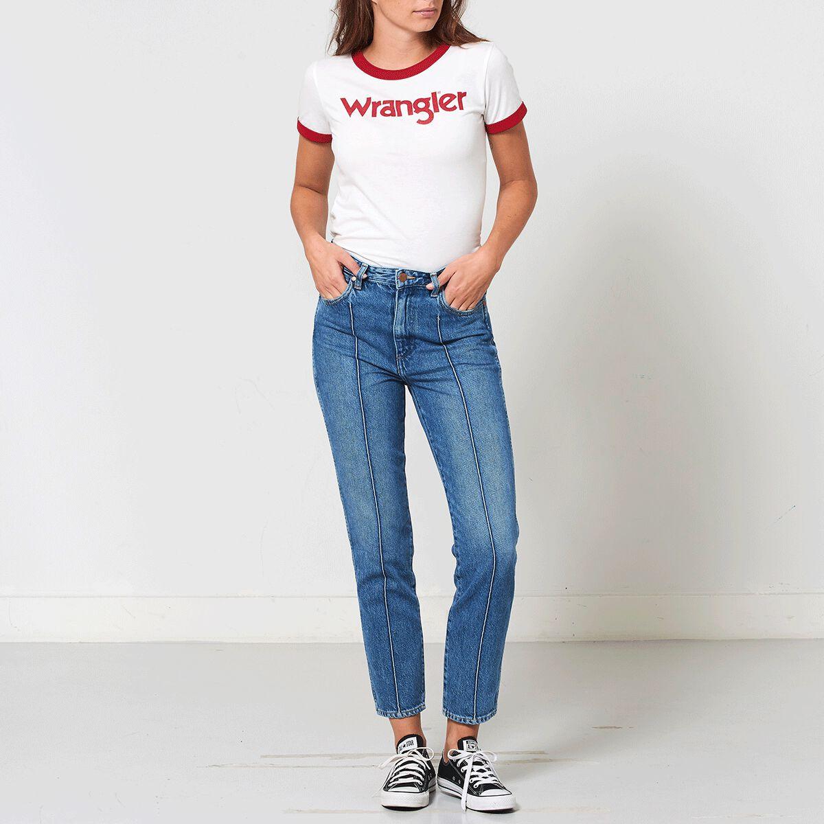 Women Jeans Wrangler Retro slim Blue Buy Online 0d1b93e4af