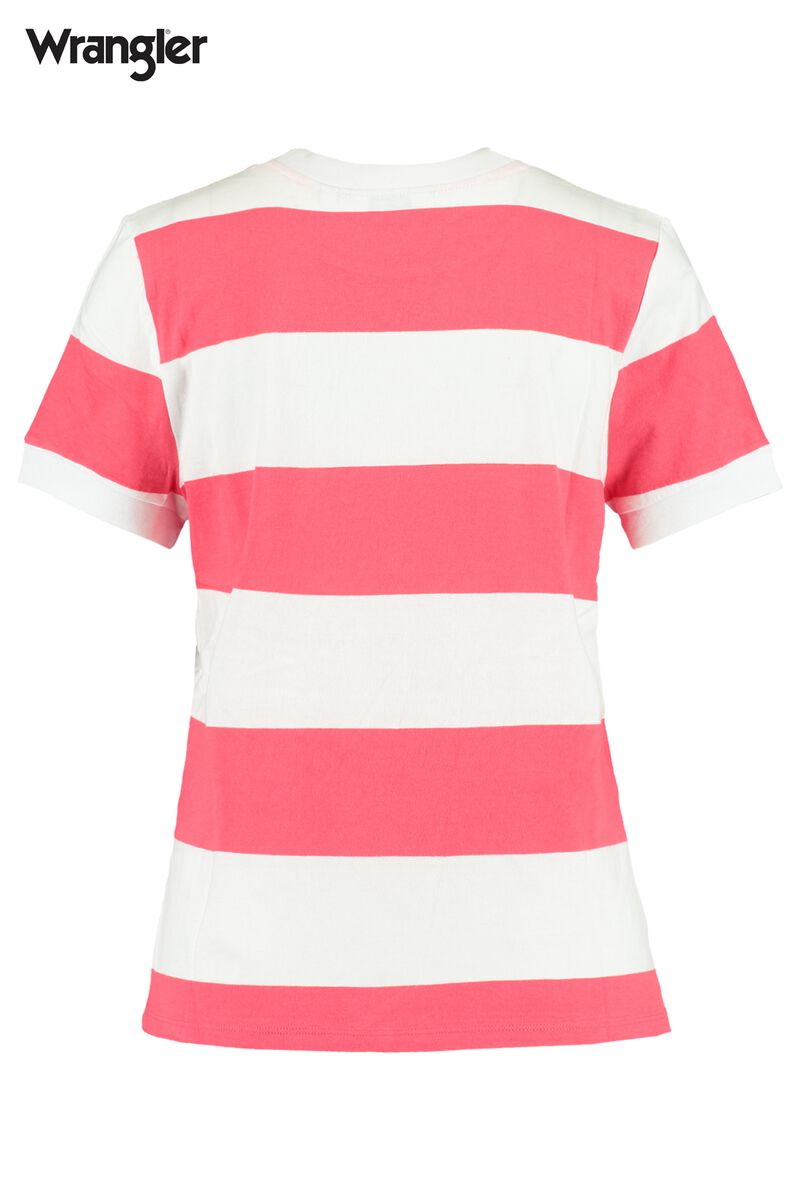T-shirt Striped high rib regular