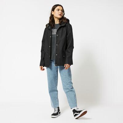 Raincoat women lined short