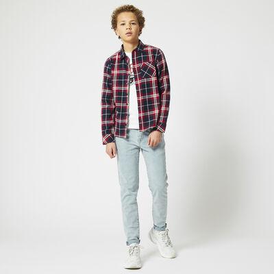 Shirt with plaid design