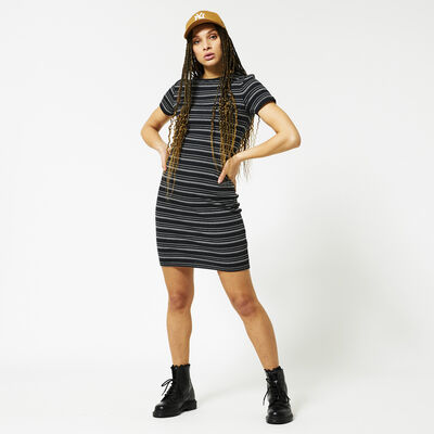 Dress with striped print