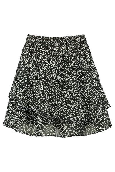 Skirt all-over print with layers