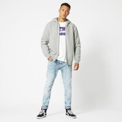 Cardigan with slit pockets