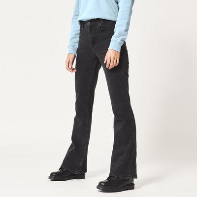 Flared jeans hoher Bund mit dunkler Waschung