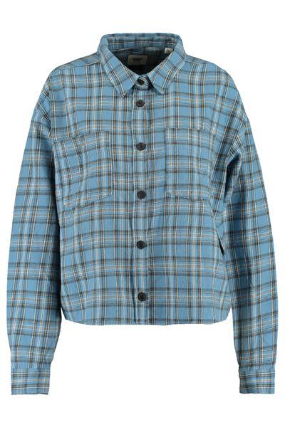 Bluse mit Plaid-design