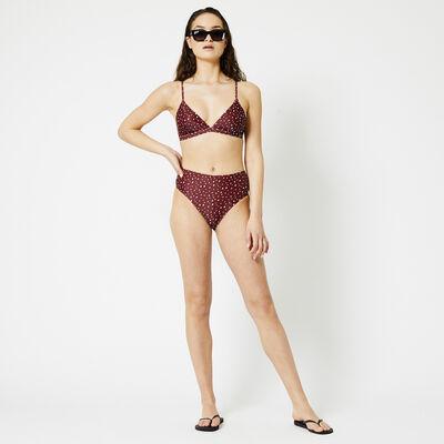 Bikini bottom high waist print