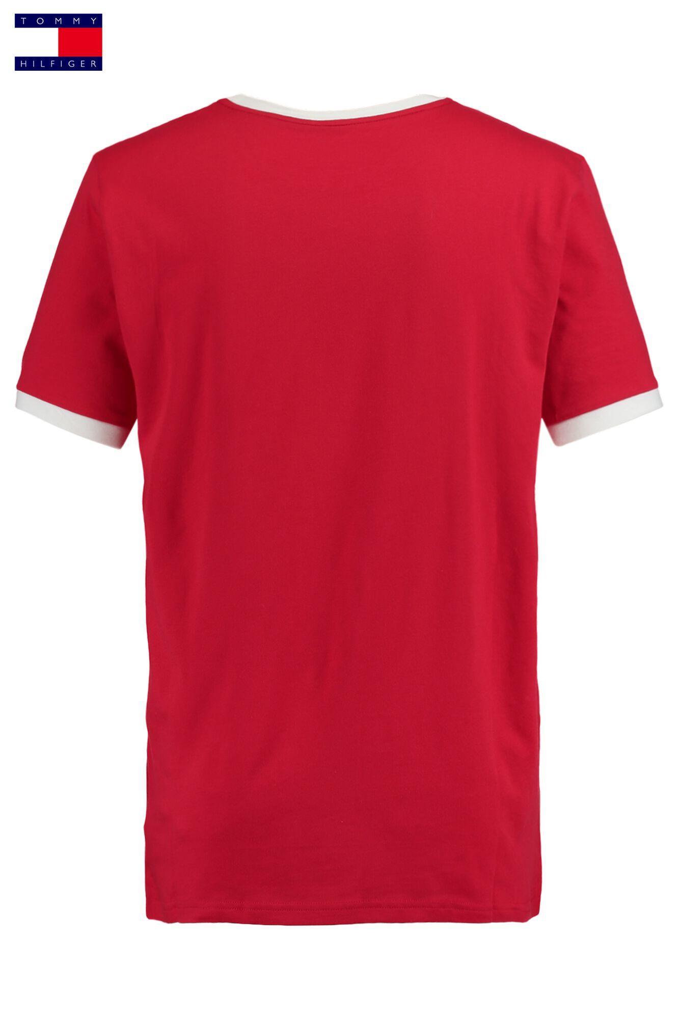 9c5f7cb02 Men T-shirt Tommy Hilfiger Logo Red Buy Online