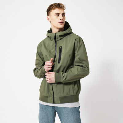 Jacket windproof with hood