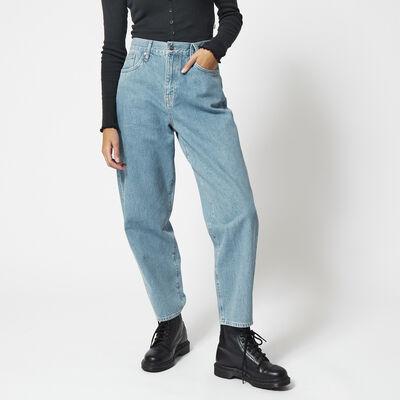 High waist jeans balloon legs