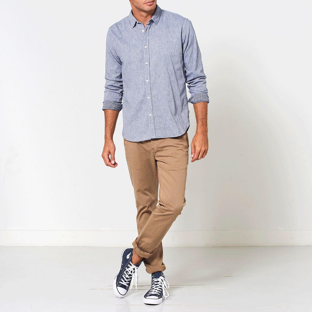 Overhemd Kopen Heren.Heren Overhemd Hopper Blauw Kopen Online