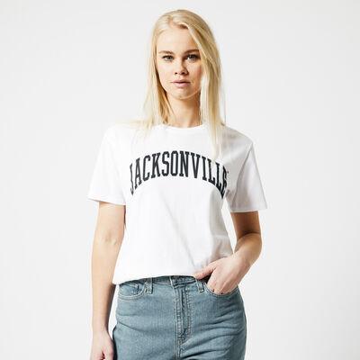 T-shirt with text imprint