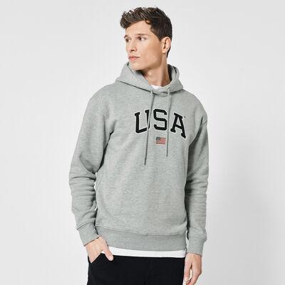 USA hoodie with kangaroo pocket