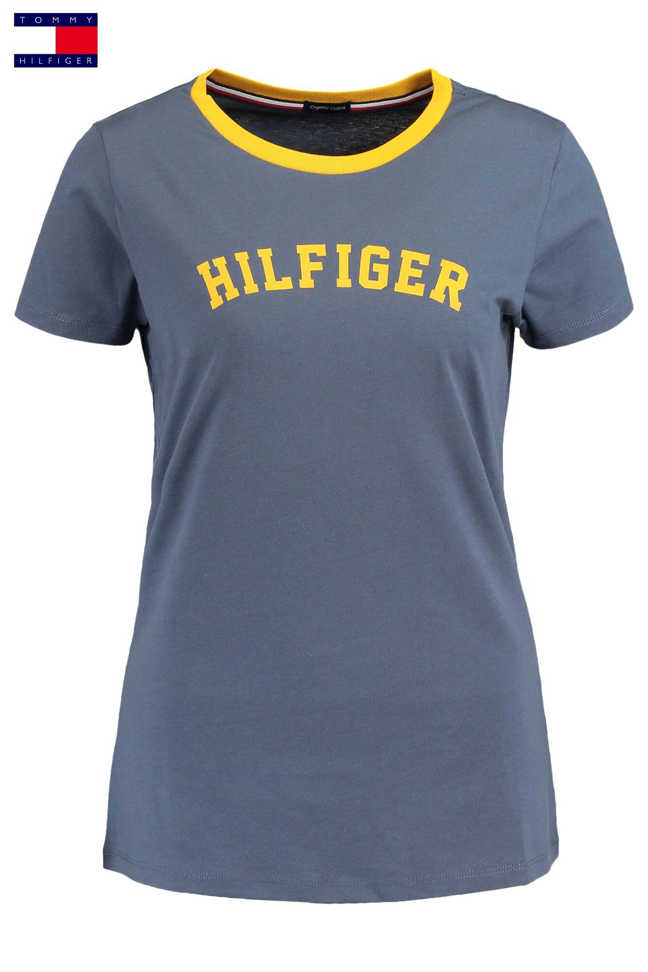 ba9519f22e80f4 Dames T-shirt Tommy Hilfiger Blauw Kopen Online