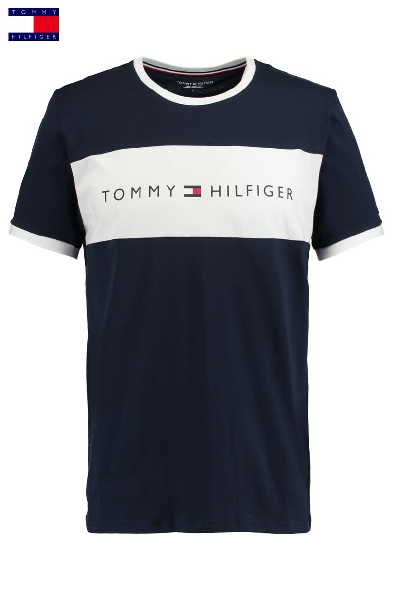 f8968da3209c0 Men T-shirt Tommy Hilfiger Logo Blue Buy Online