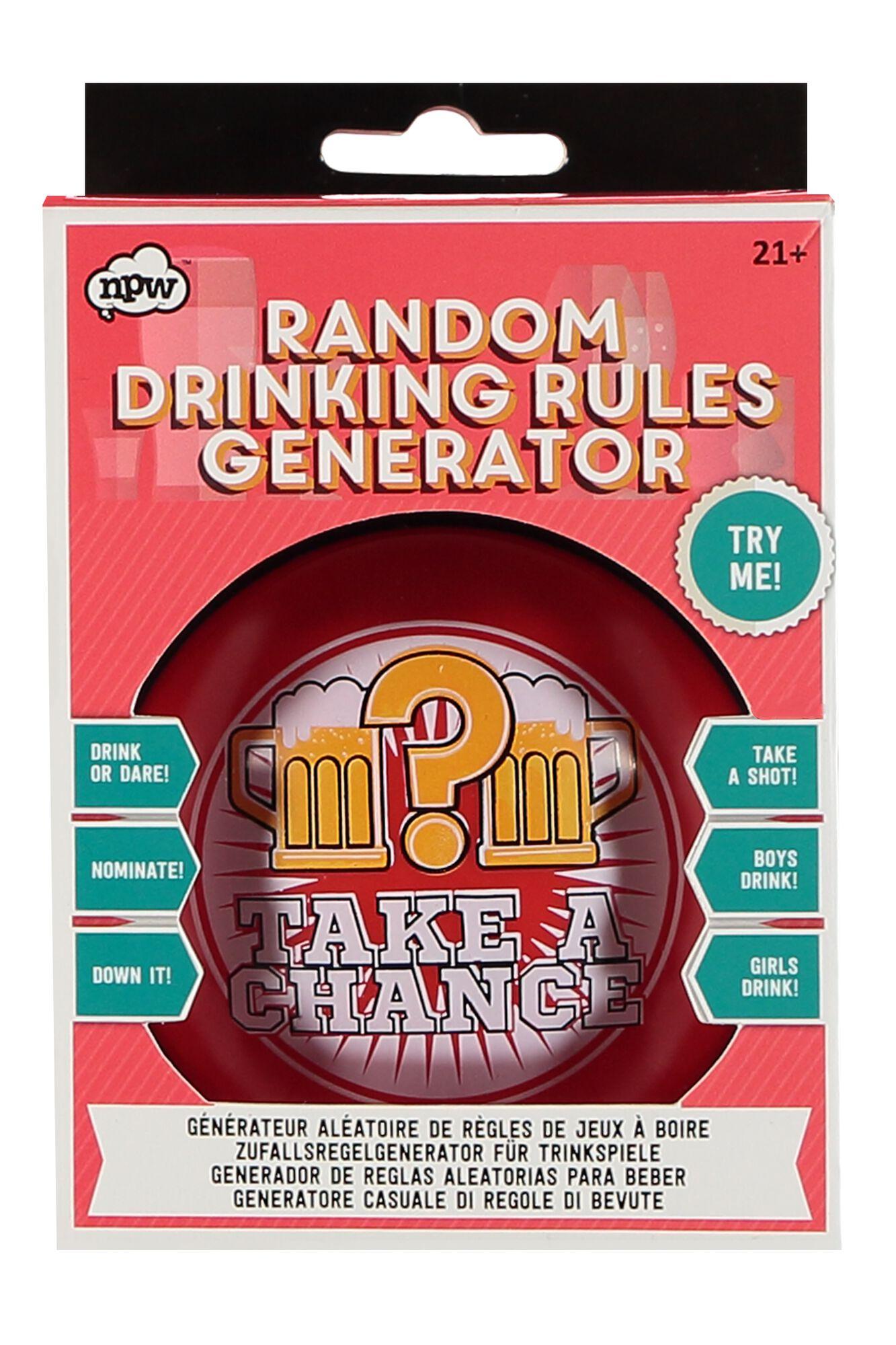Random Drinking rules
