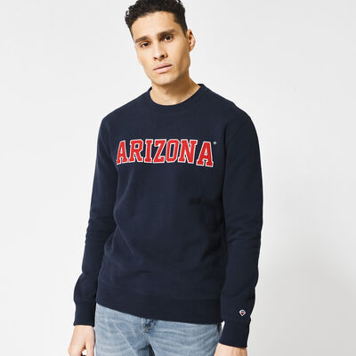 Sweater with embroidered text