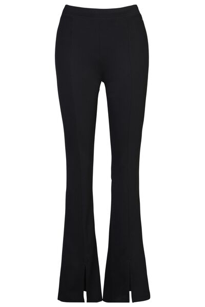 Flared pants met stretch split lengtemaat 32