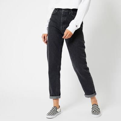 Mom jeans hoher Bund mit dunkler Waschung