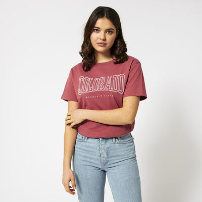 T-shirt met tekstprint