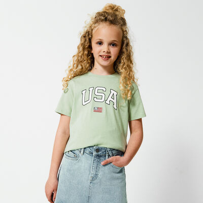 T-shirt USA text imprint