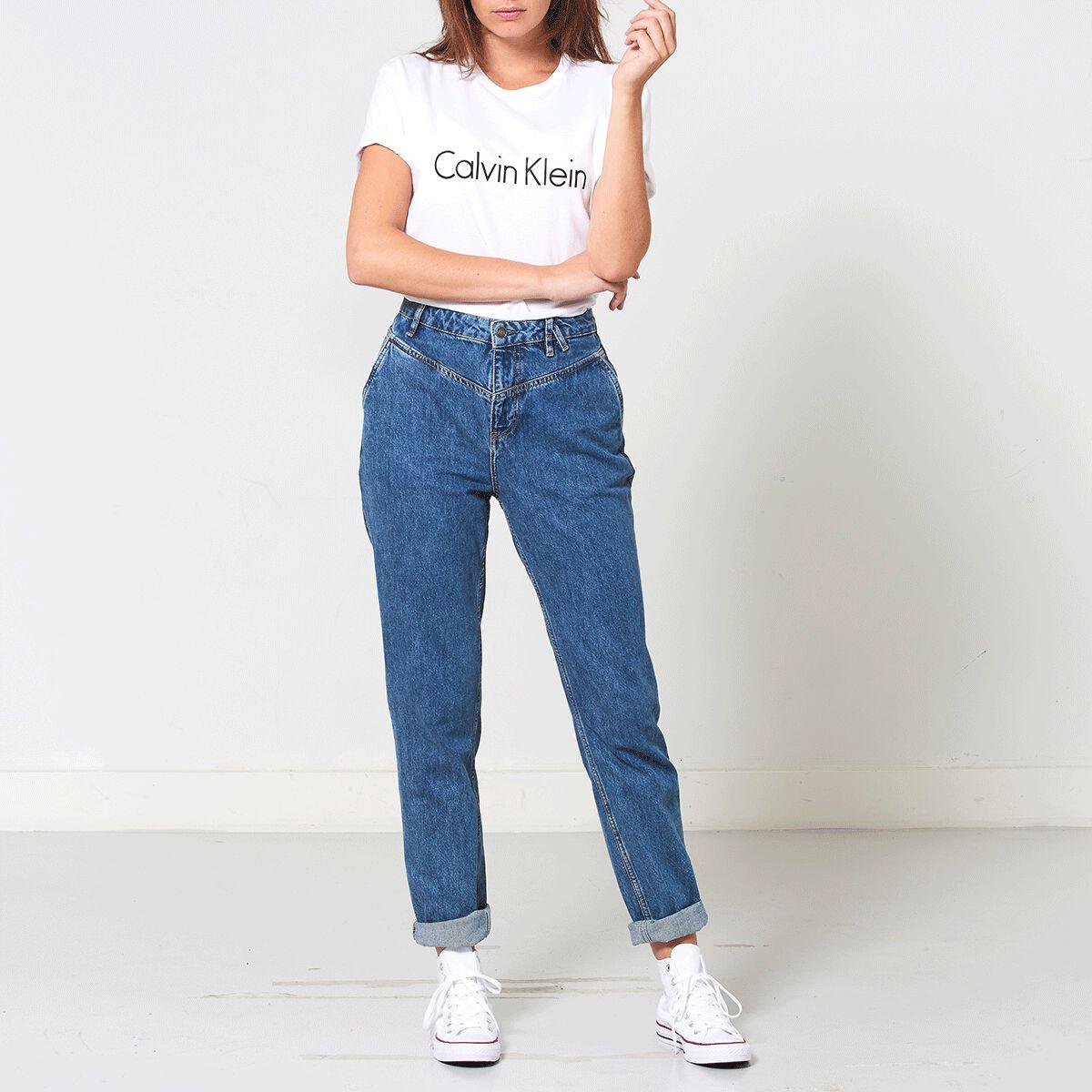 f34183a18 Women T-shirt Calvin Klein S/S Crew Neck White Buy Online