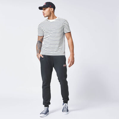 T-shirt all-over streepprint