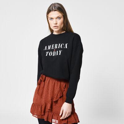 Sweater met America Today tekstopdruk