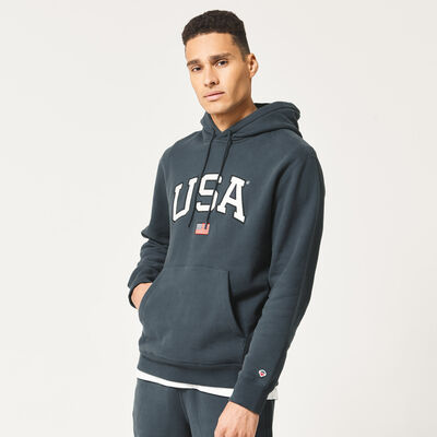 Hoodie with embroidered USA text