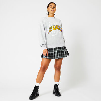 Skirt plaid print