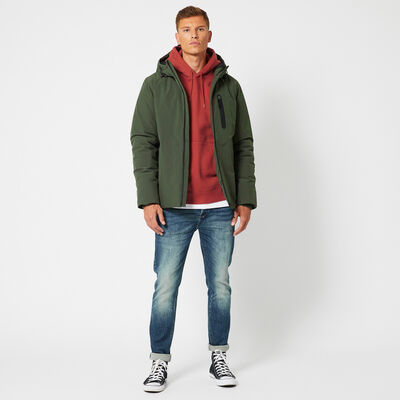 Jacket Joris with hood and chest pocket and fleece lined slit pockets