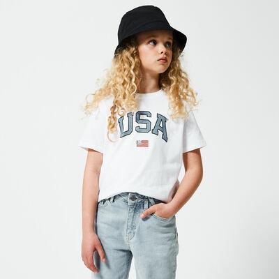 T-shirt USA tekstopdruk