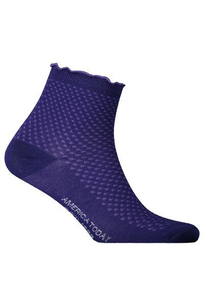 Socks with ruffle