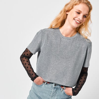 T-shirt cropped Eggy