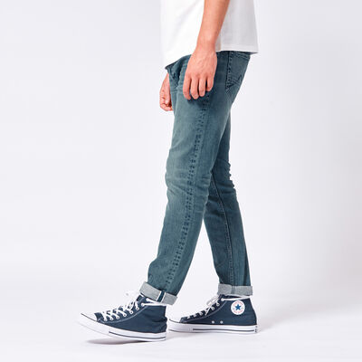 Slim fit jeans with stretch and slit pockets