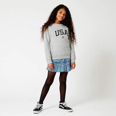 Sweater USA Text-Stickerei
